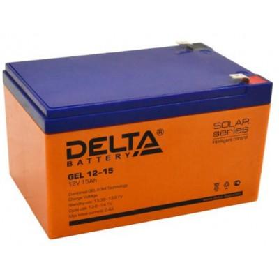 AGM аккумулятор Delta GEL 12-15
